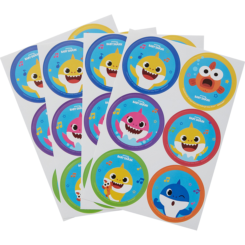Baby Shark Stickers 4 Sheets Image #1