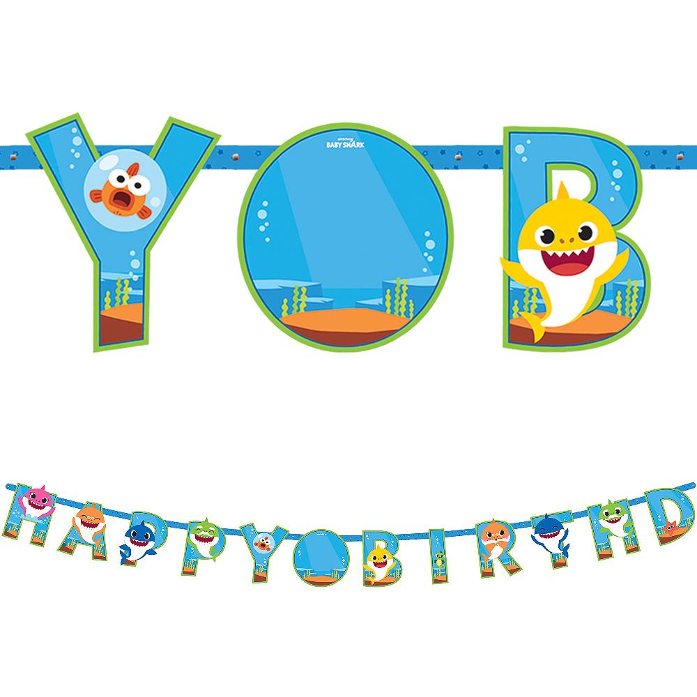 Baby Shark Birthday Banner Kit Image #1
