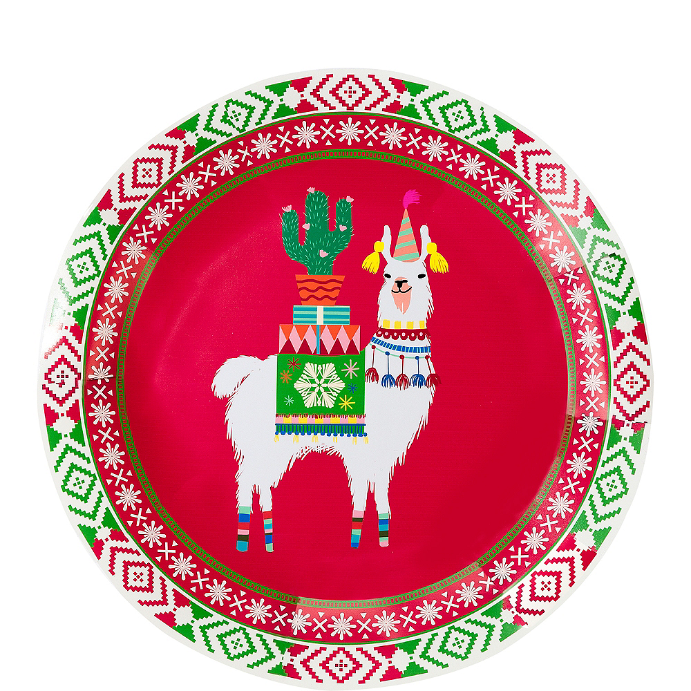 Festive Christmas Lunch Plates 8ct Image #1