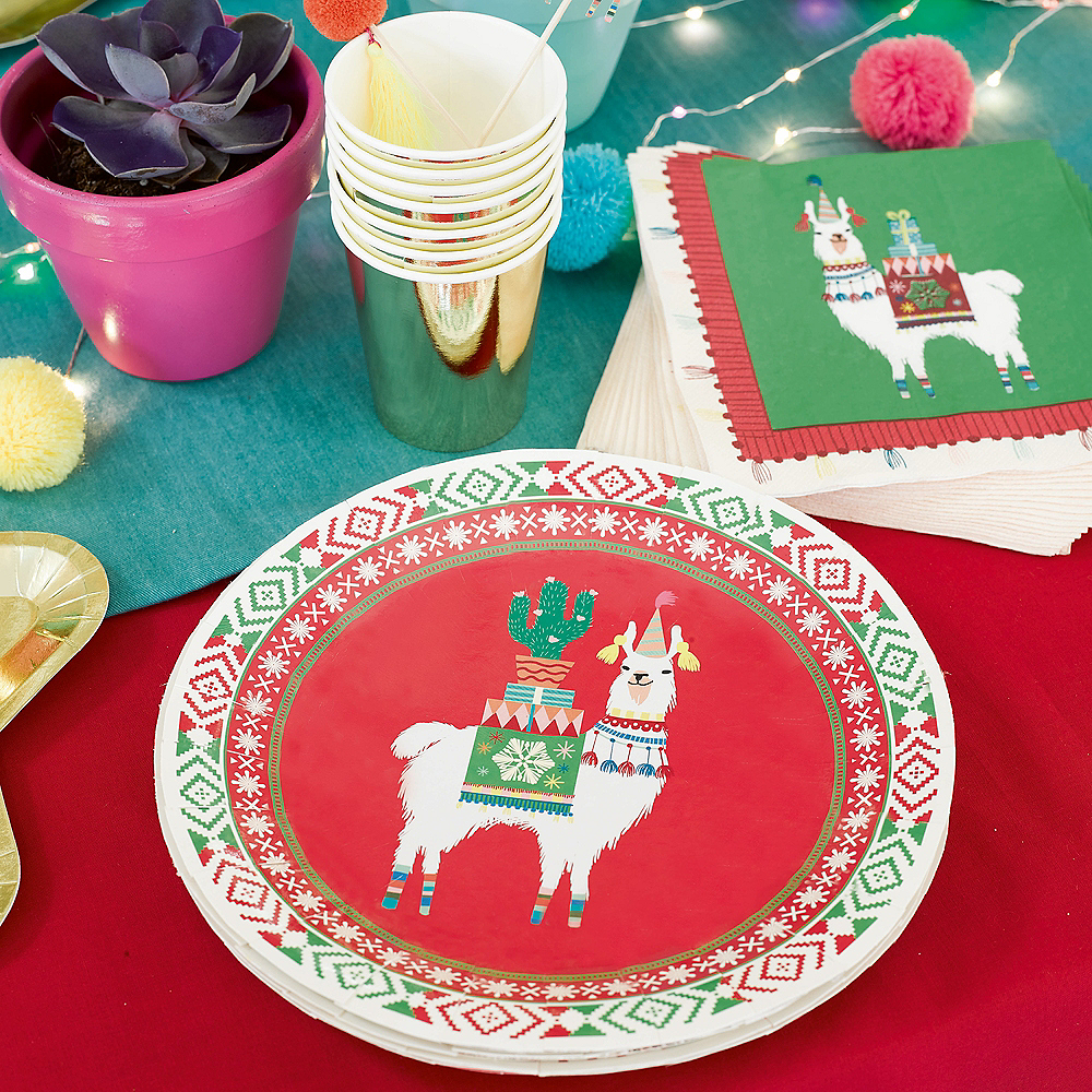 Festive Christmas Lunch Plates 8ct Image #2