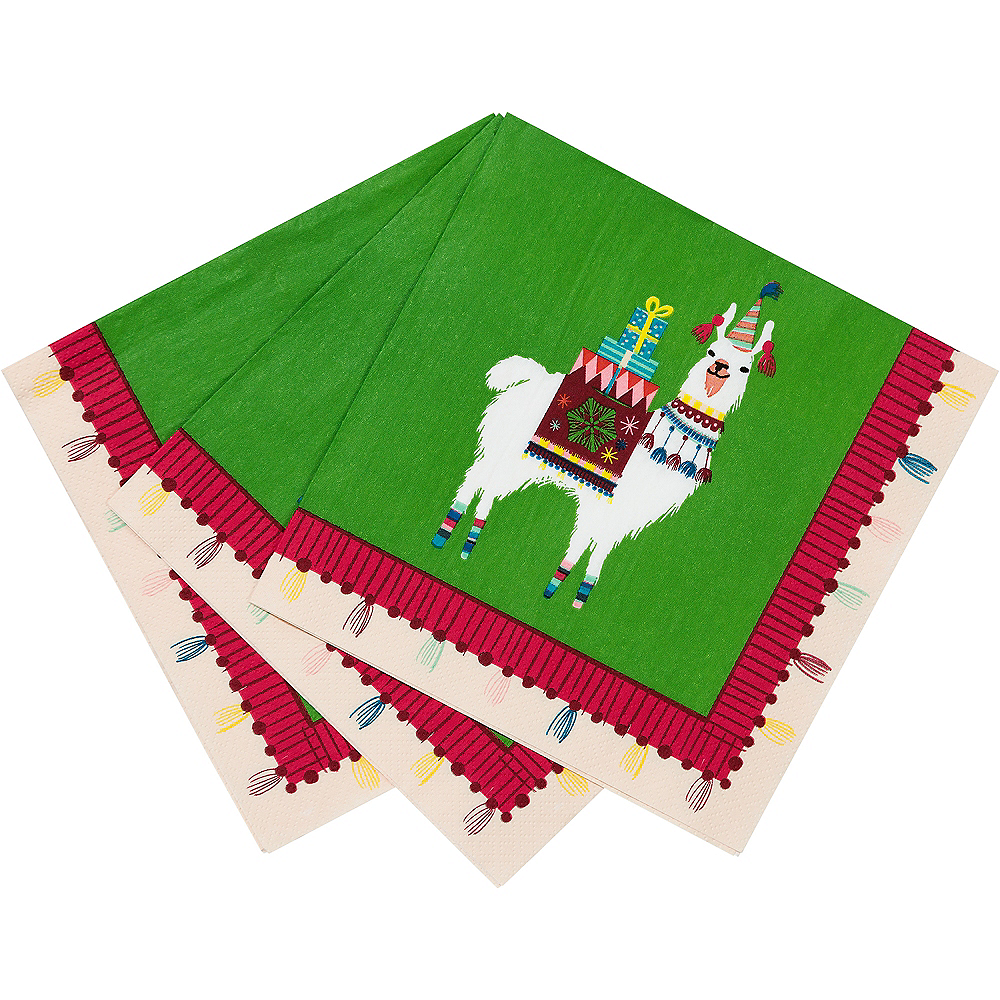Festive Christmas Lunch Napkins 20ct Image #2