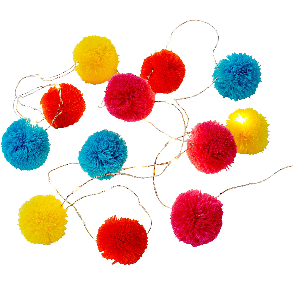 Multicolor Pom-Pom LED String Lights Image #1