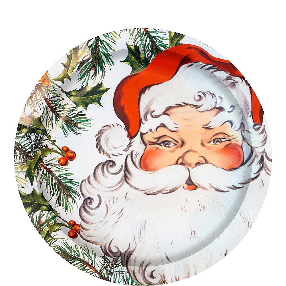 Botanical Santa Lunch Plates 8ct Image #1