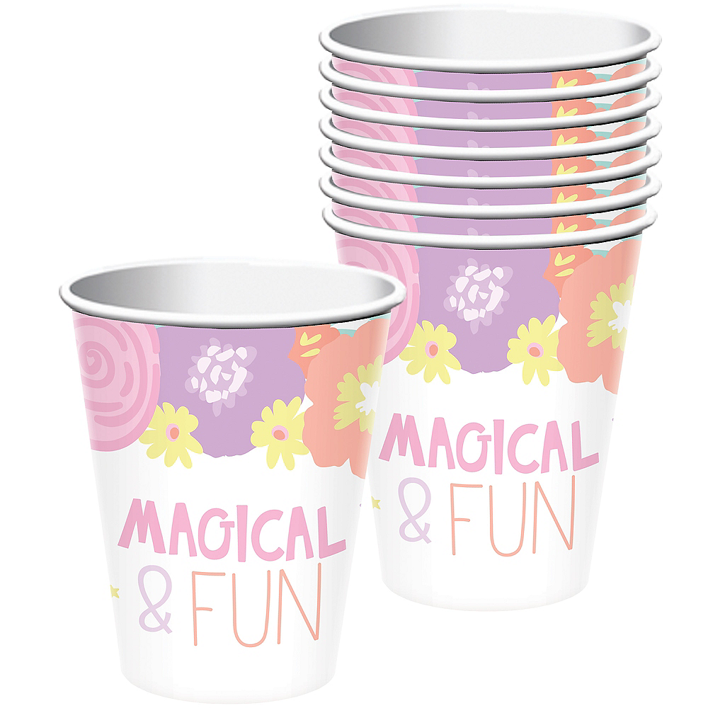 Unicorn Party Cups 8ct Image #1