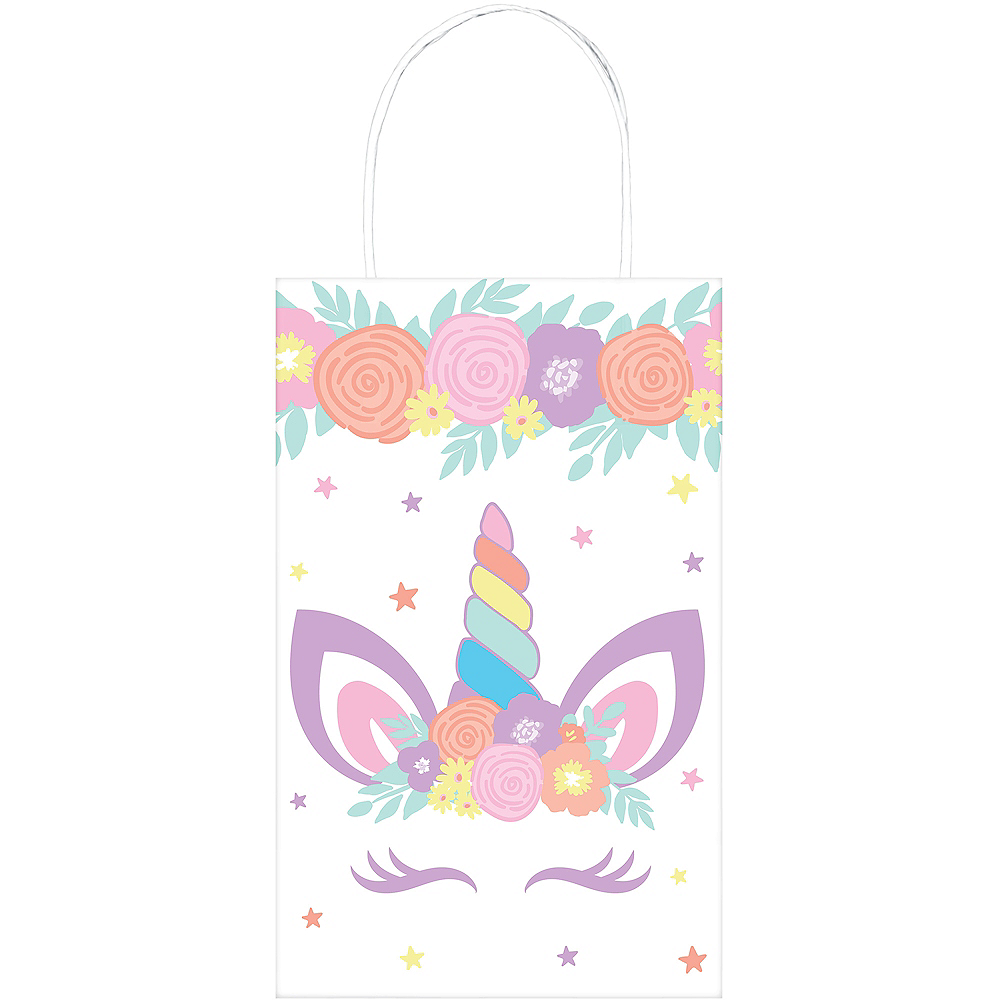 Nav Item for Unicorn Party Kraft Bags 8ct Image #1