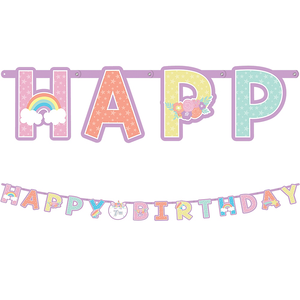 Jumbo Unicorn Party Birthday Banner Kit Image #1