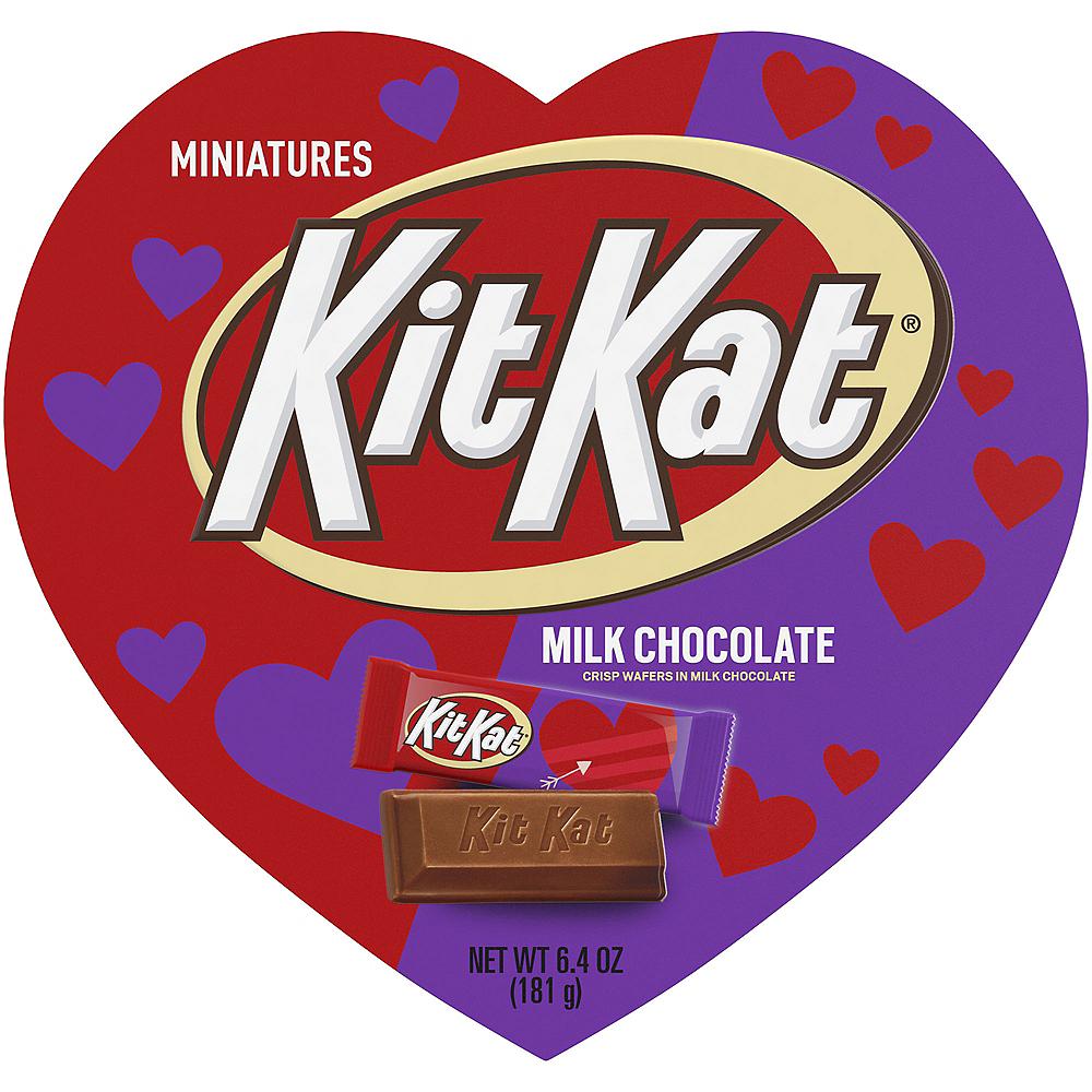Milk Chocolate Kit Kat Miniatures Valentine's Day Box 20pc Image #1