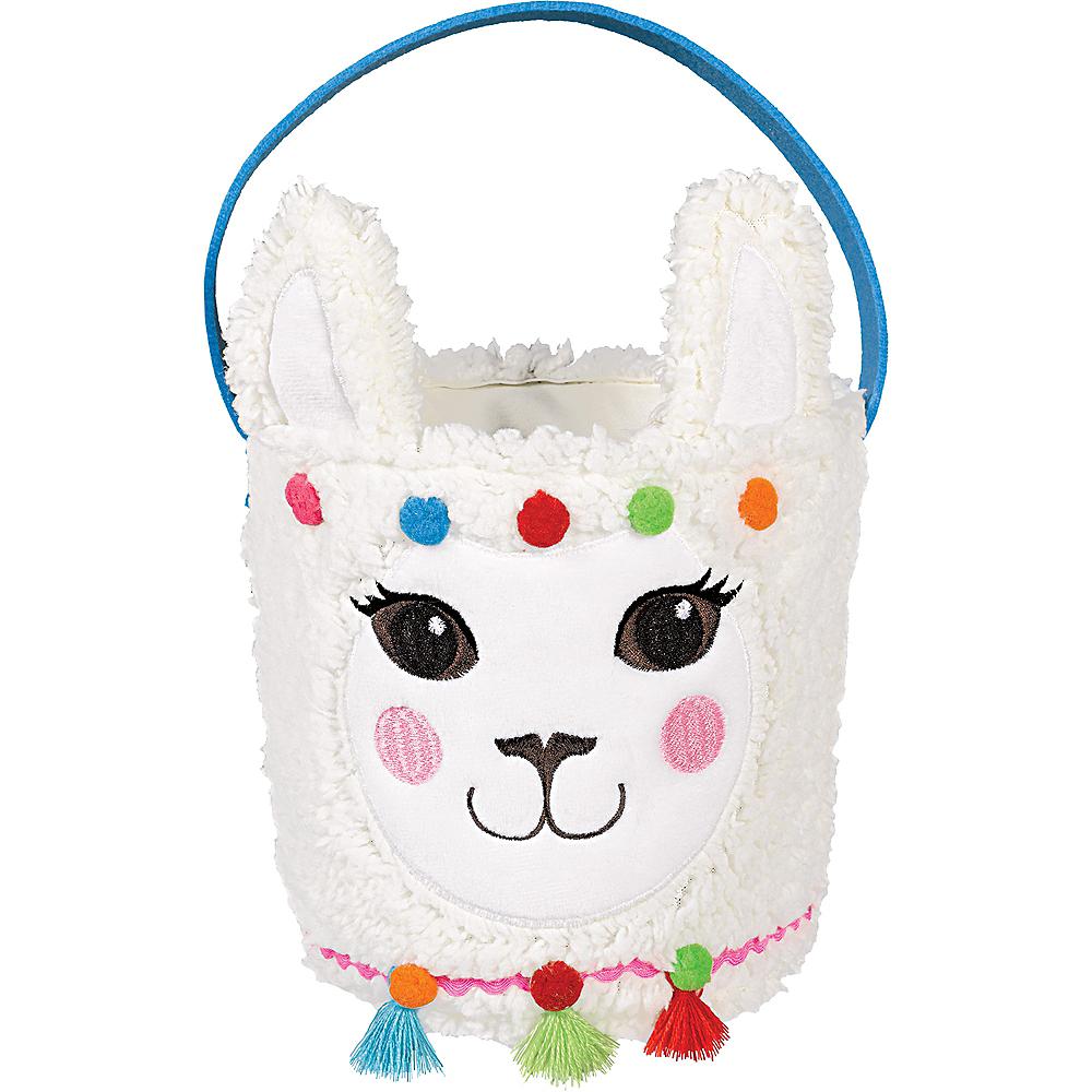 Plush Llama Easter Basket Image #1