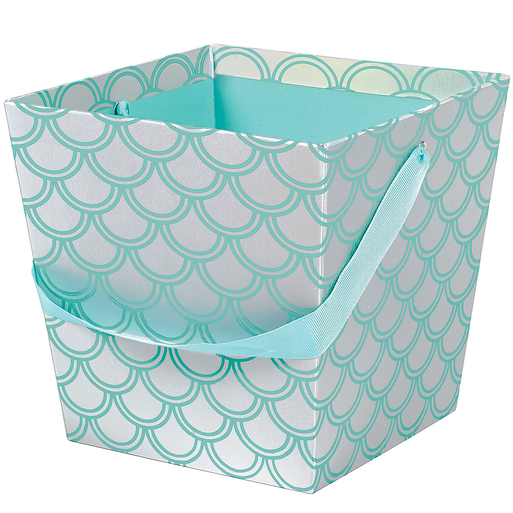 Iridescent Mermaid Scale Basket Image #1