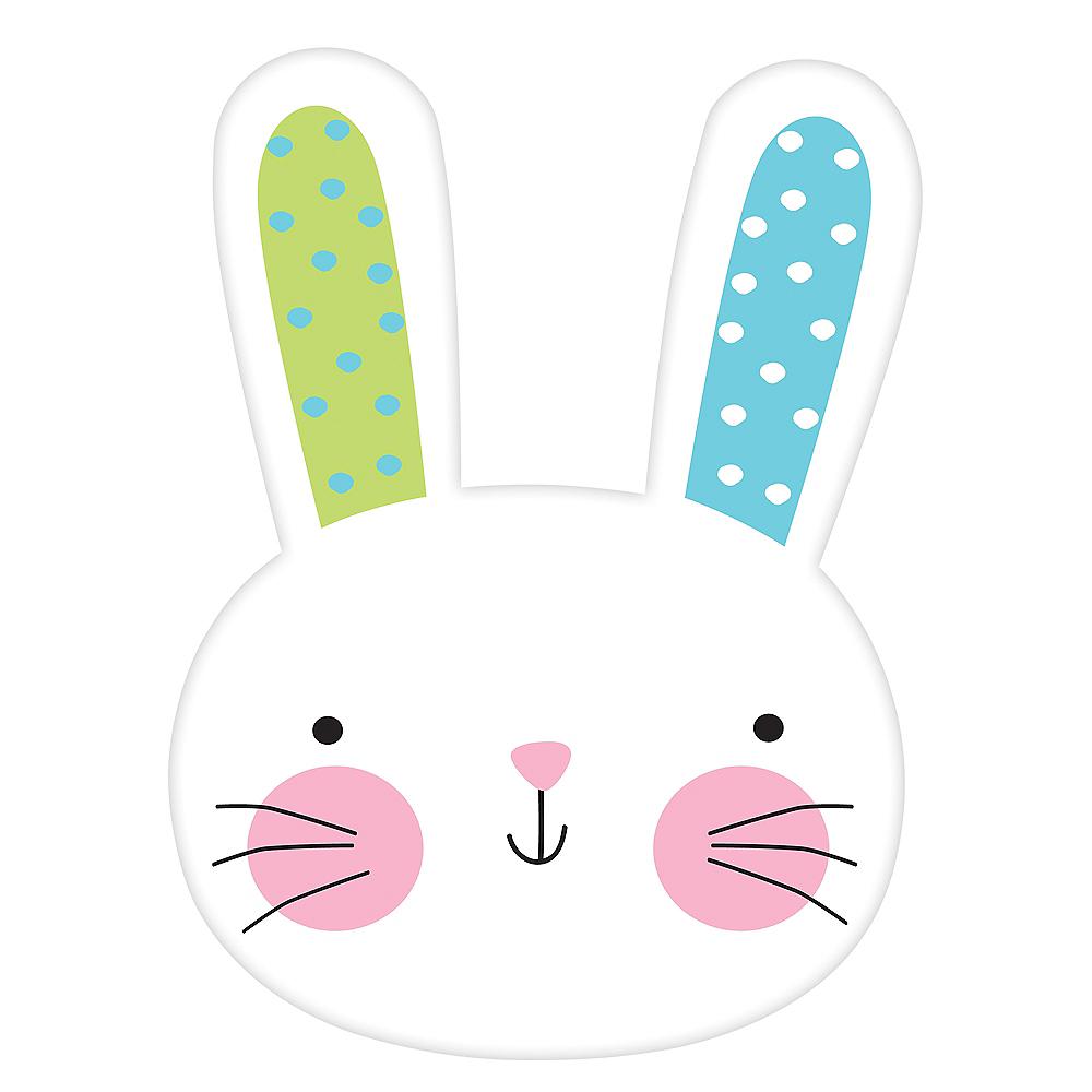 Polka Dot Ears Hello Bunny Cutout Image #1