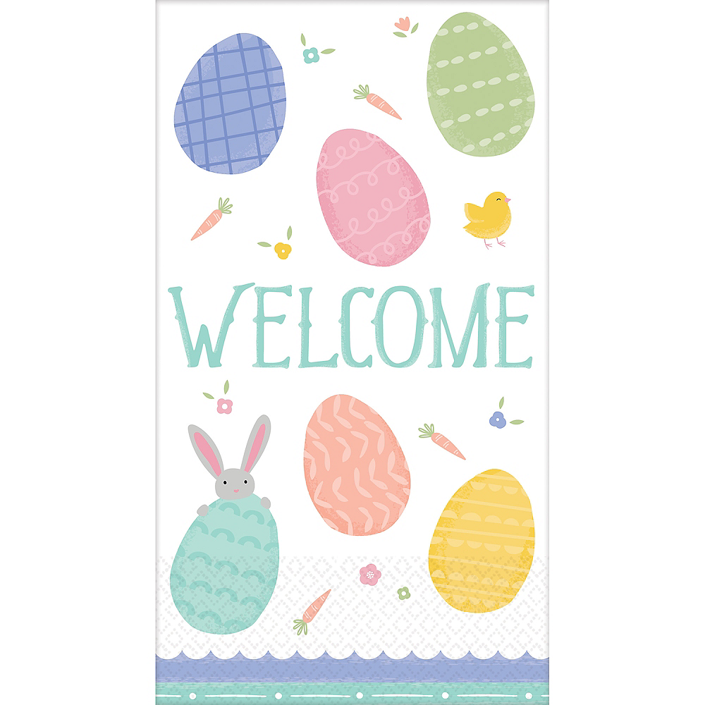 Pretty Pastel Easter Guest Towels 16ct Image #1