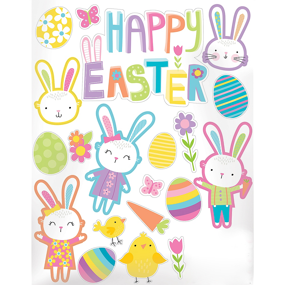 Easter Hello Bunny Decals 20ct Image #1