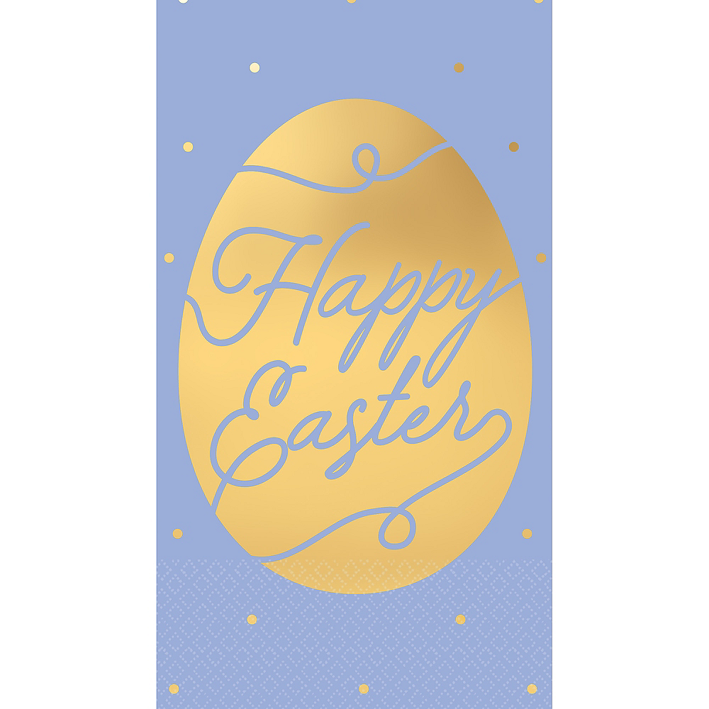 Metallic Happy Easter Gold Egg Guest Towels 16ct Image #1