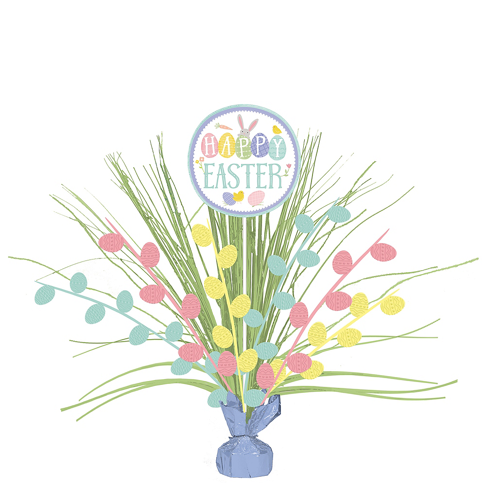 Easter Eggs in Golden Grass Spray Centerpiece Image #1