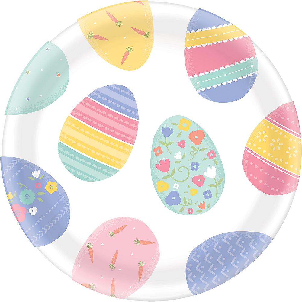 Pretty Pastel Easter Egg Round Platter Image #1