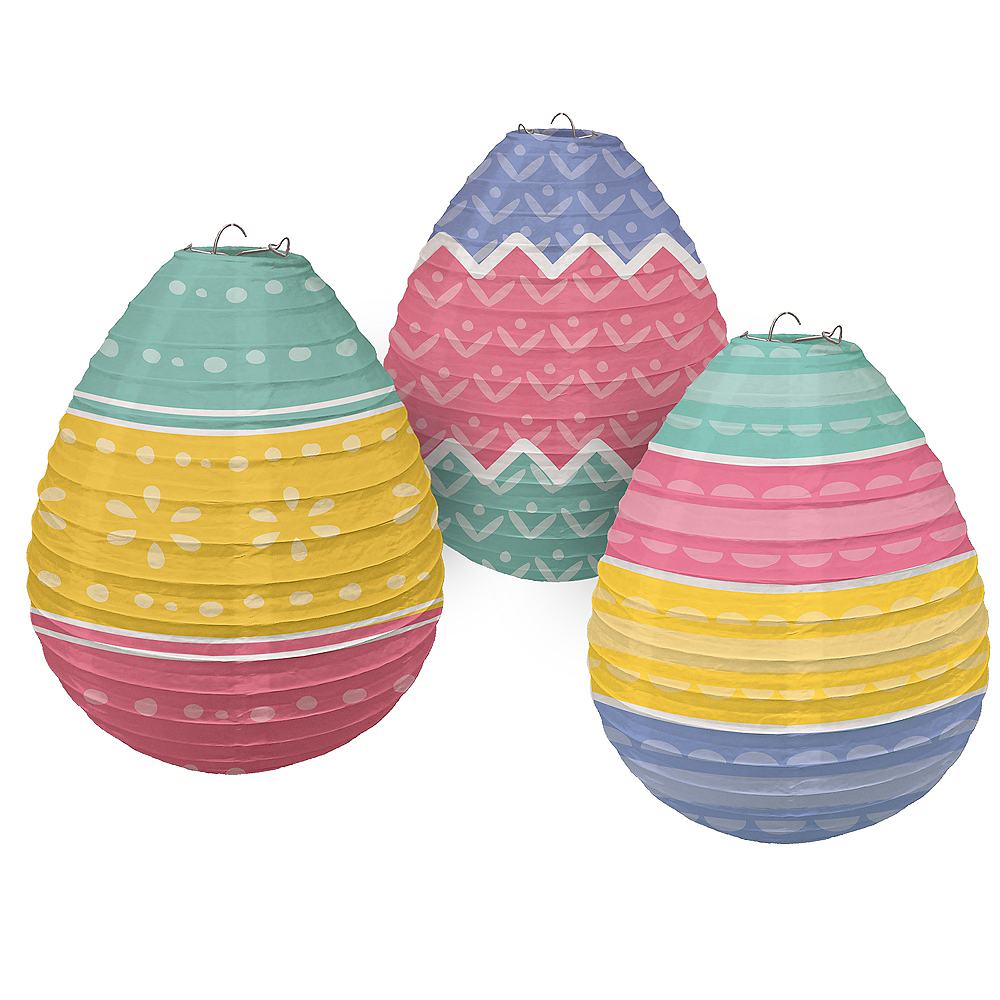 Pretty Pastel Paper Lanterns 3ct Image #1