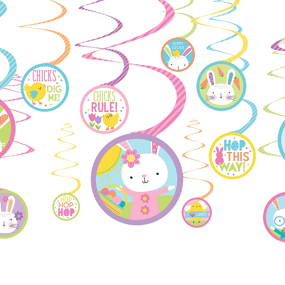 Hello Bunny Boys & Girls Easter Swirl Decorations 12ct Image #1