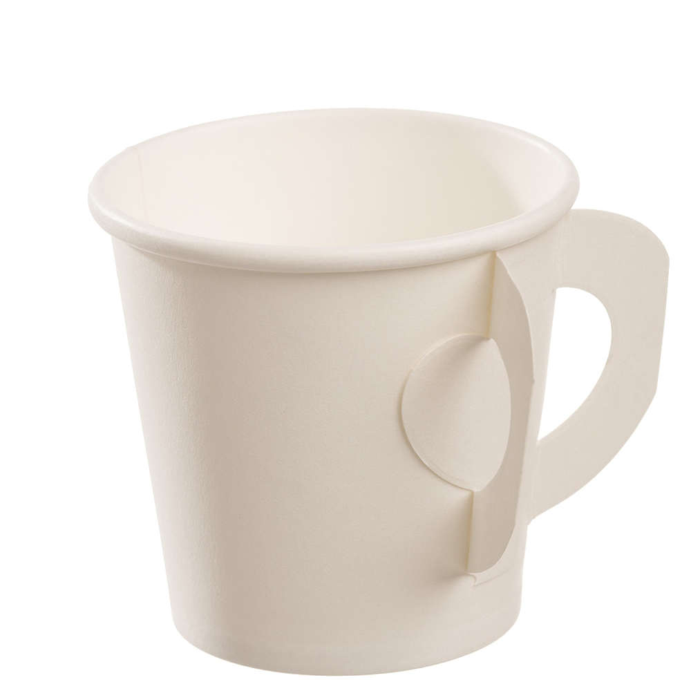 Small White Cups with Handles 50ct Image #1
