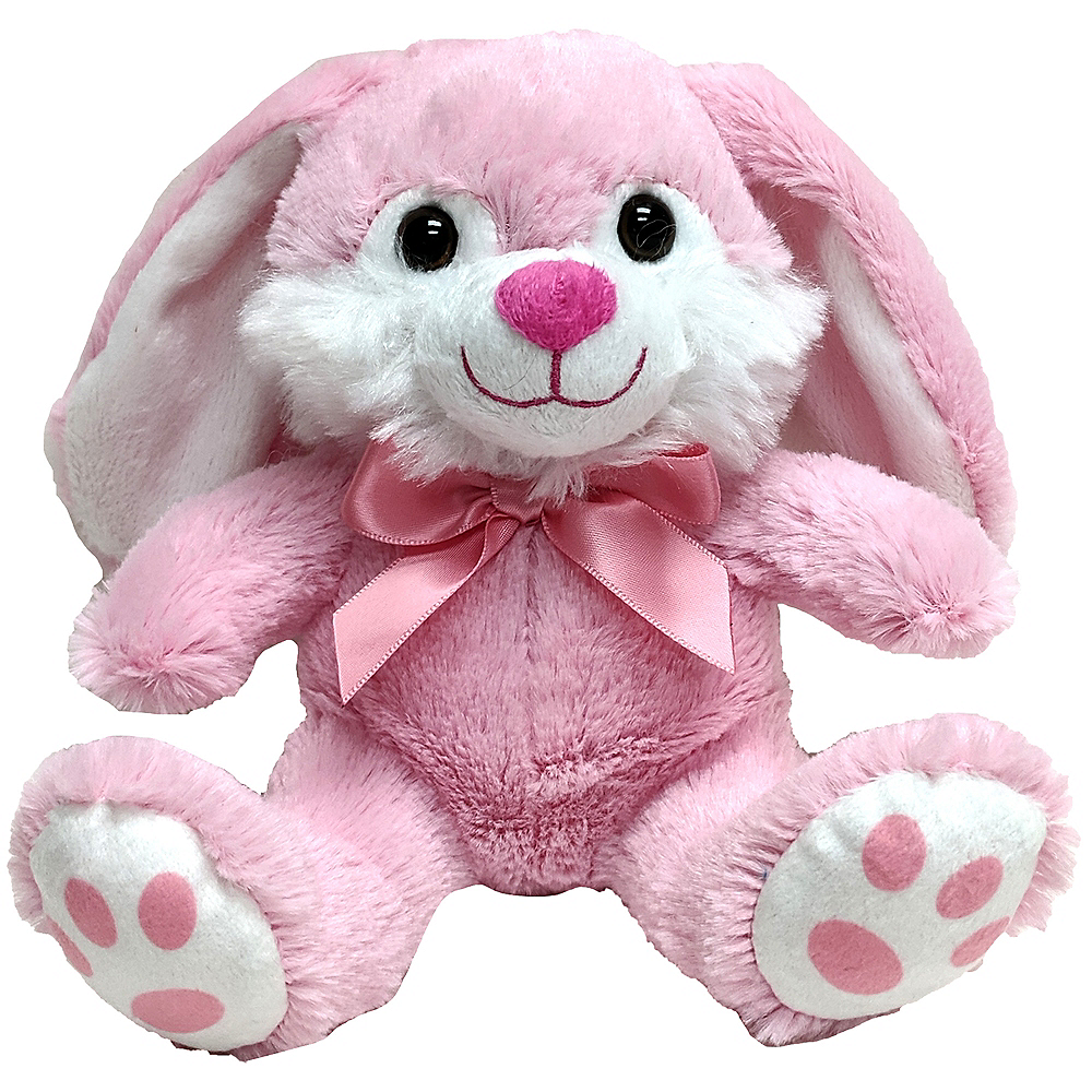 Pink Bowtie Easter Bunny Plush Image #1