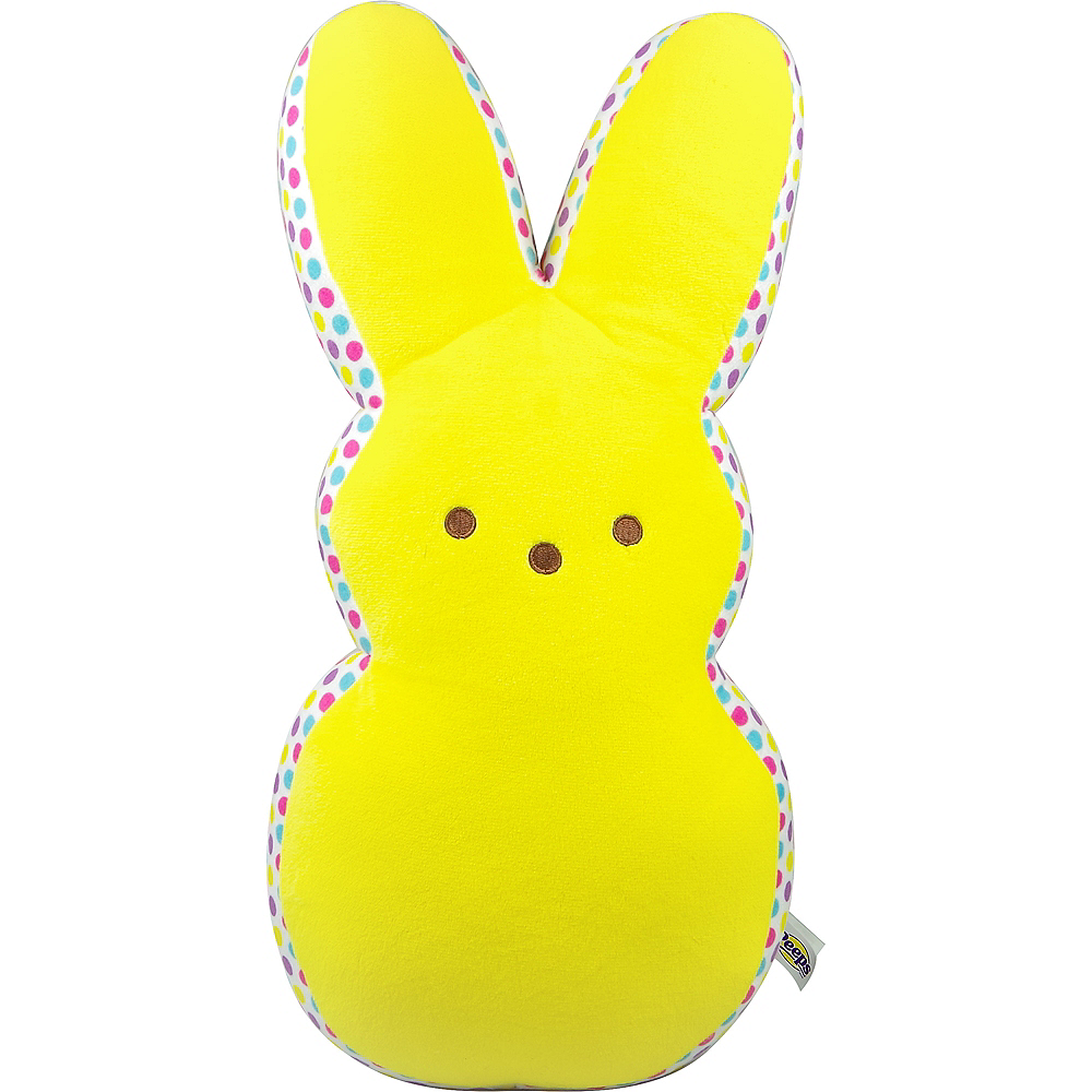 Large Yellow & Confetti Dot Peeps Plush Image #1