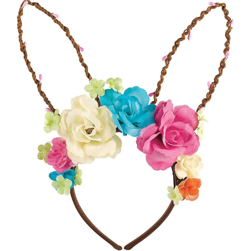 Woodland Vine Floral Bunny Ears Headband Image #1