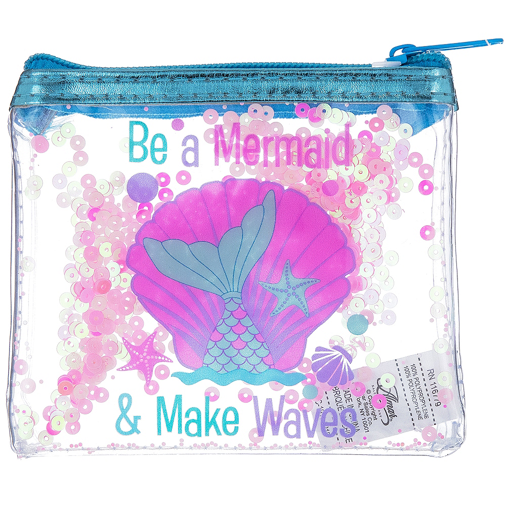 Nav Item for Pink Sequin Confetti Shake Mermaid Pouch Image #1