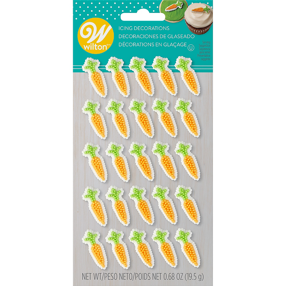 Wilton Carrot Icing Decorations 25ct Image #2