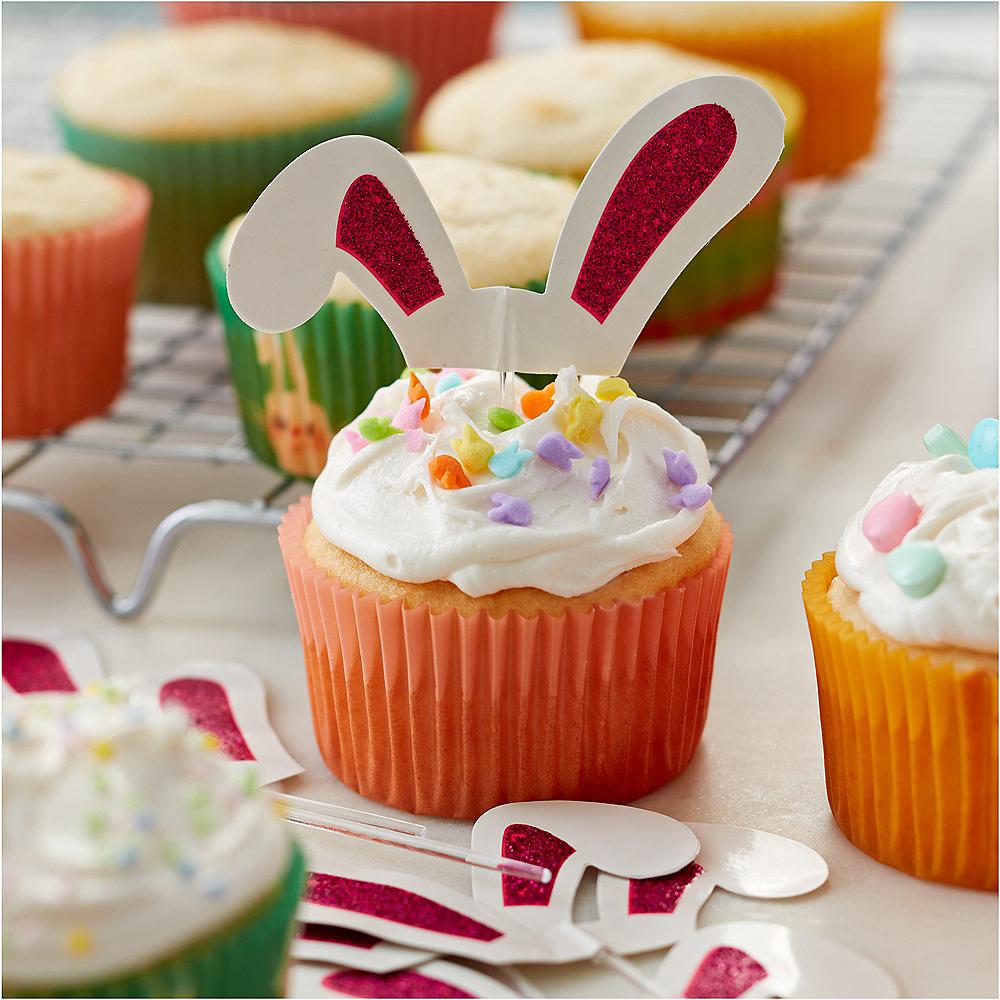 Wilton Glitter Easter Bunny Ears Cupcake Picks 24ct Image #3