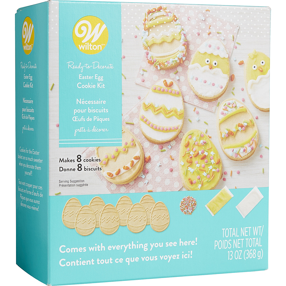 Wilton Ready-to-Decorate Easter Egg Cookie Kit Image #1