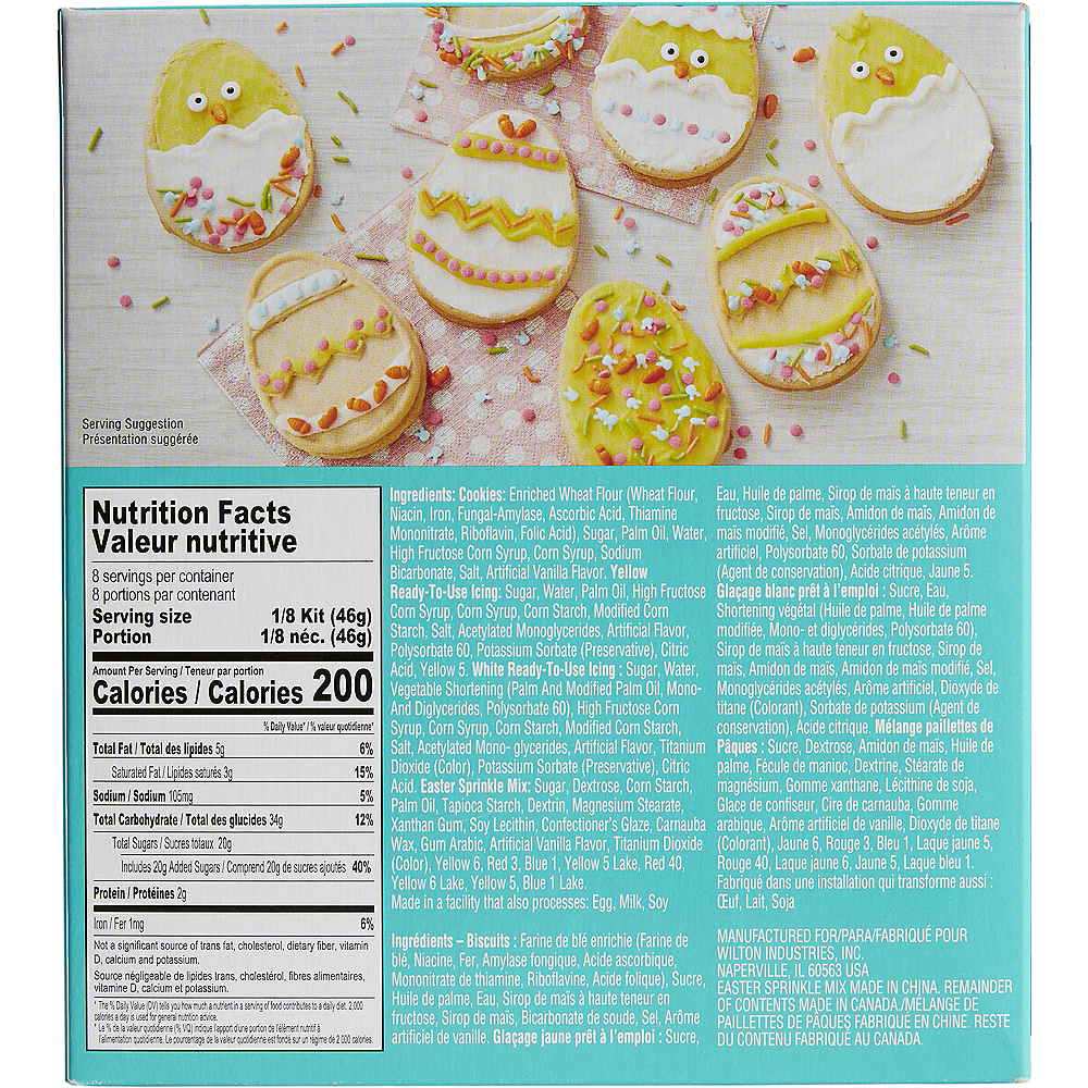 Wilton Ready-to-Decorate Easter Egg Cookie Kit Image #2
