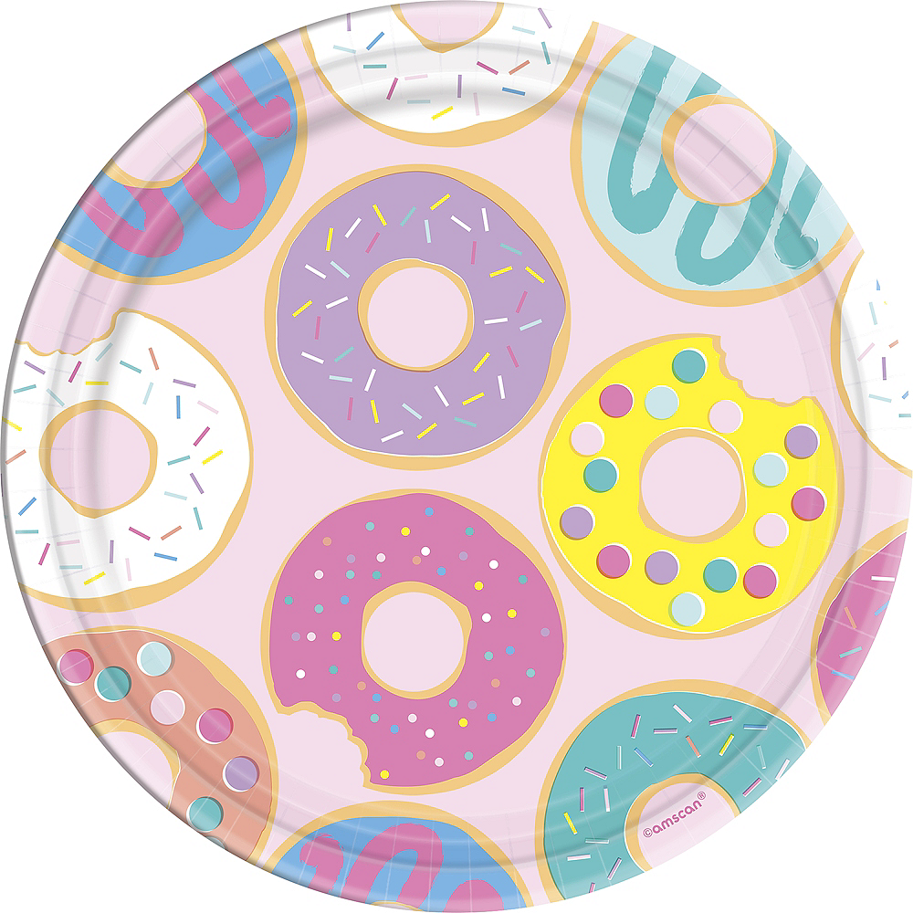 Donut Party Lunch Plates 8ct Image #1