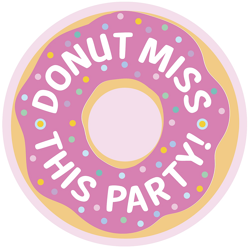 Donut Party Postcard Invitations 8ct Image #1