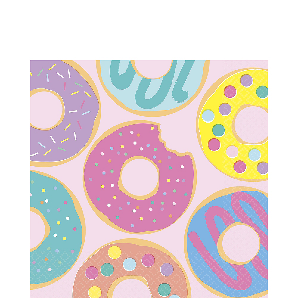 Donut Party Lunch Napkins 16ct Image #1