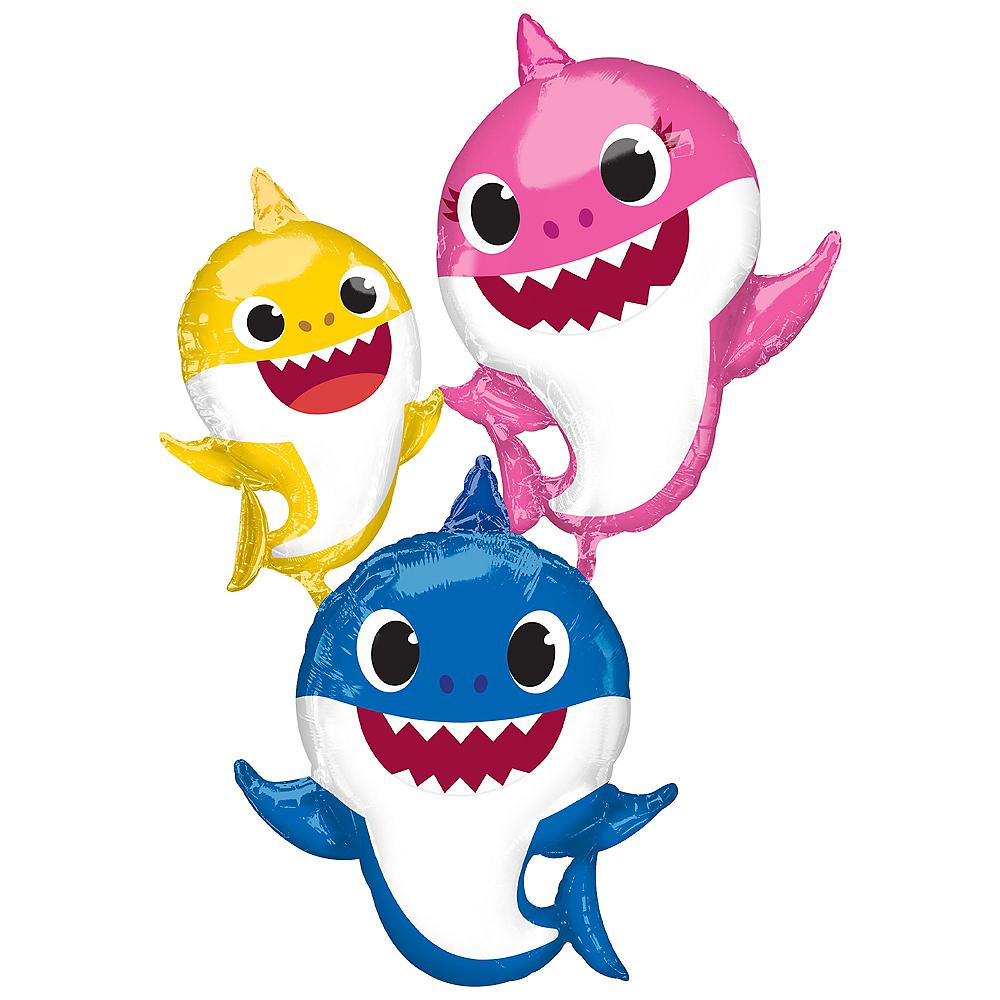 Gliding Baby Shark Family Balloon Image #1