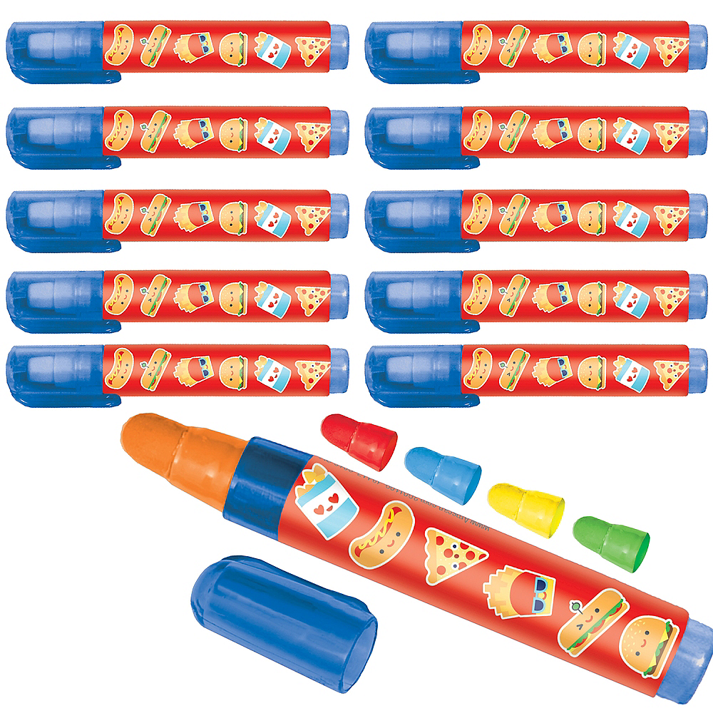 Snack Attack Push-Up Erasers 24ct Image #1