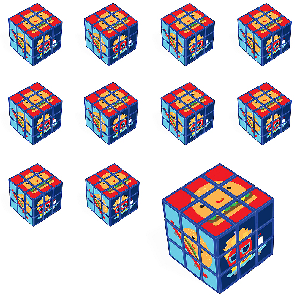 Snack Attack Puzzle Cubes 24ct Image #1