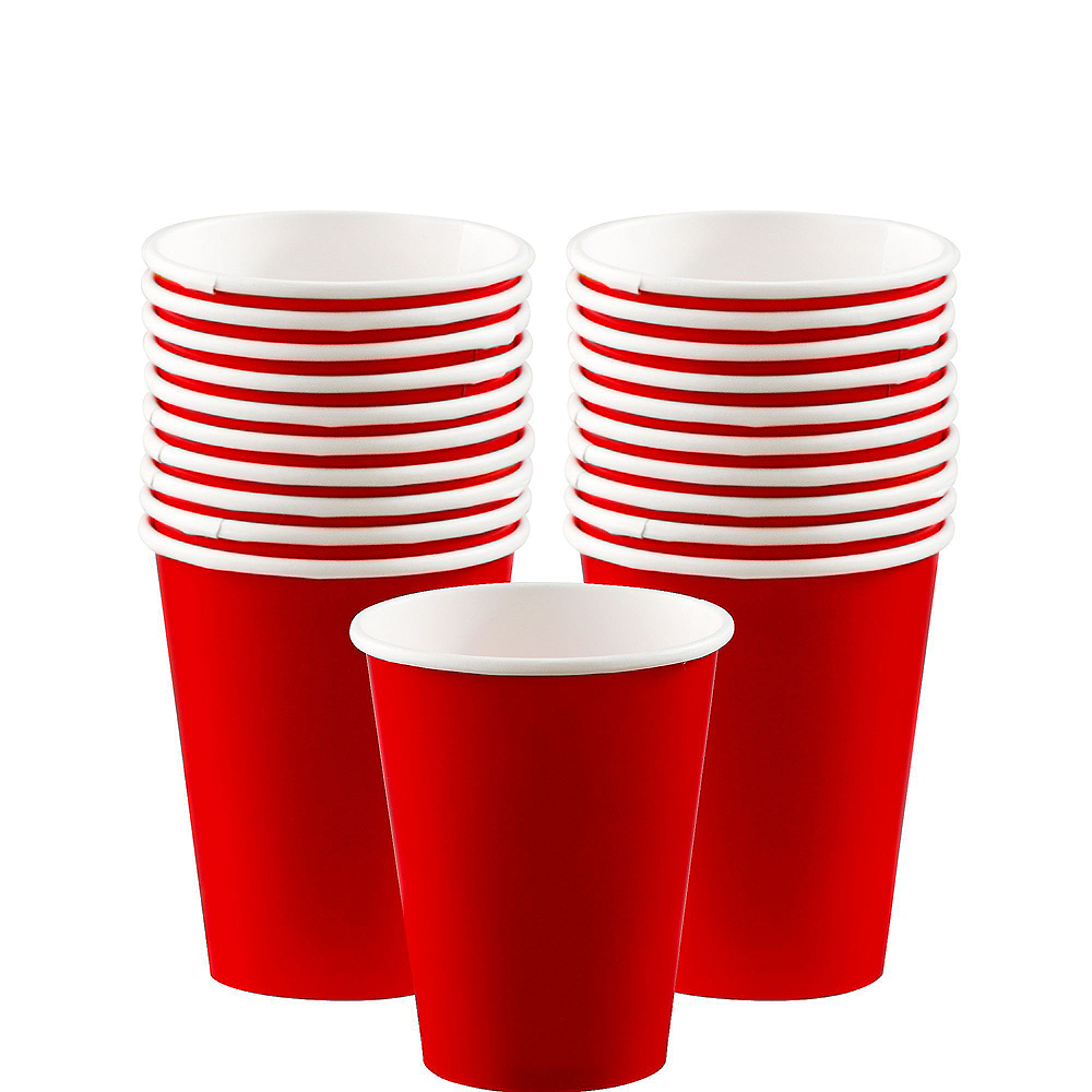 Red Paper Tableware Kit for 20 Guests Image #6