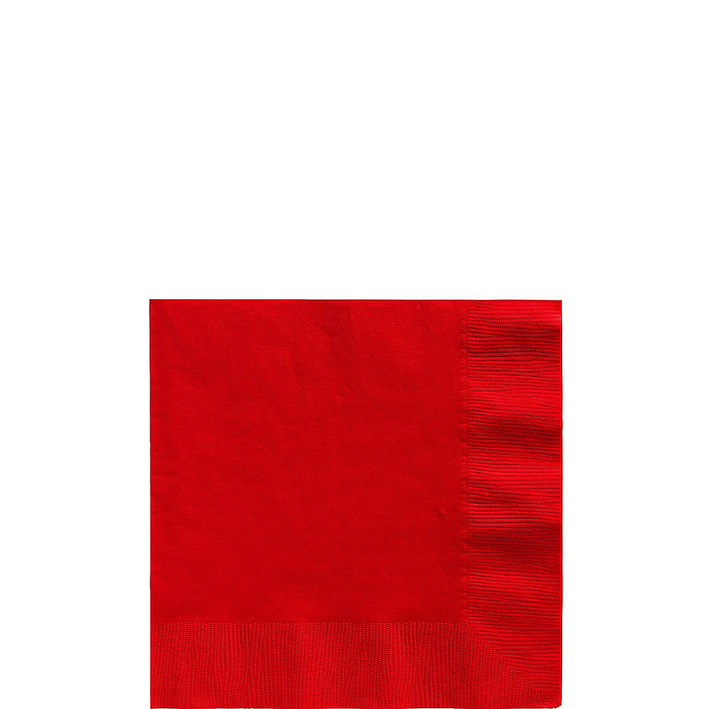 Red Plastic Tableware Kit for 20 Guests Image #4