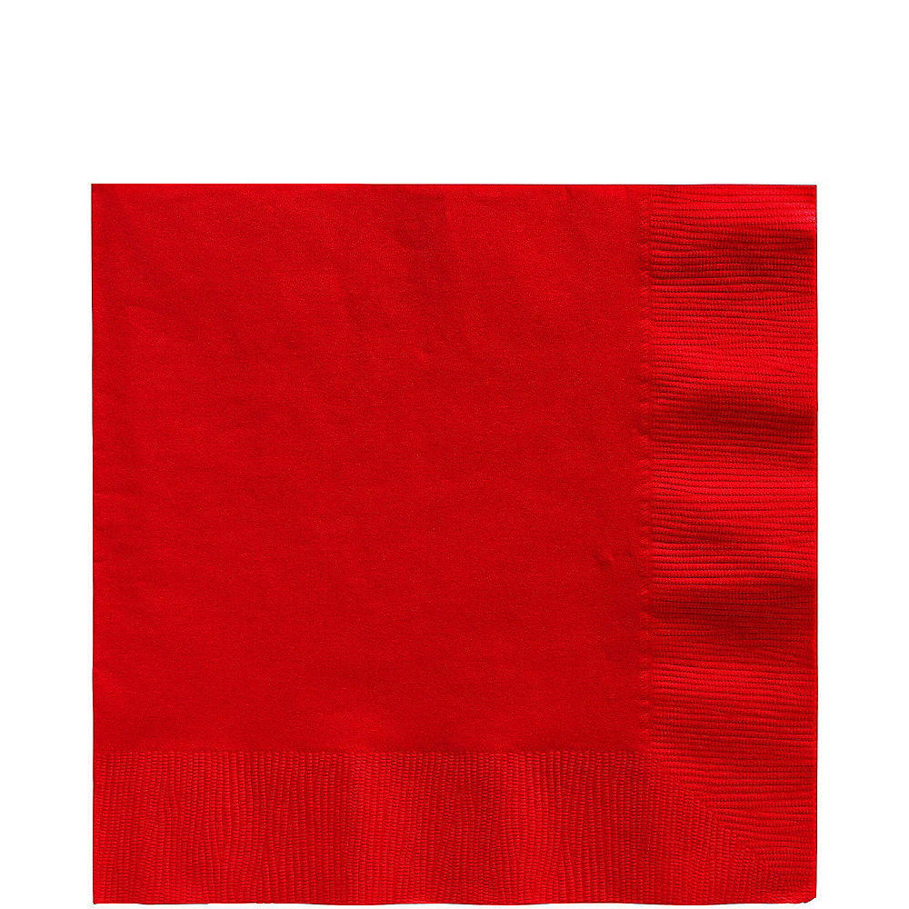 Red Plastic Tableware Kit for 20 Guests Image #5