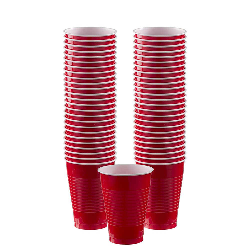 Red Plastic Tableware Kit for 20 Guests Image #6