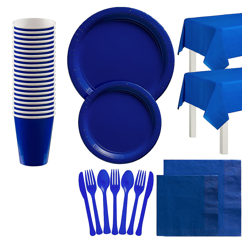 Royal Blue Tableware Kit for 20 Guests Image #1