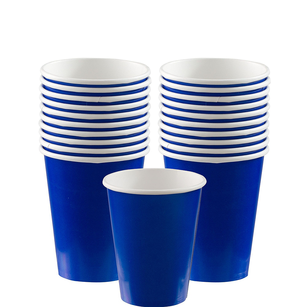 Royal Blue Paper Tableware Kit for 20 Guests Image #6