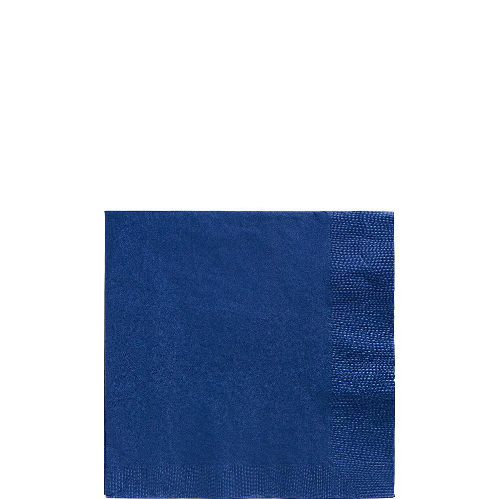 Royal Blue Plastic Tableware Kit for 20 Guests Image #4