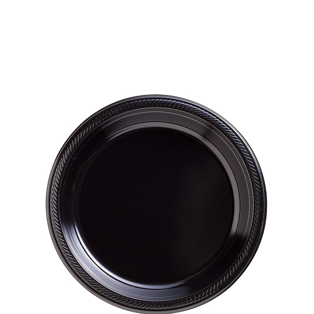 Black Plastic Tableware Kit for 20 Guests Image #2