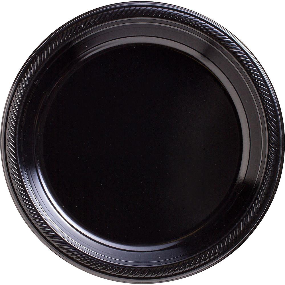 Black Plastic Tableware Kit for 20 Guests Image #3