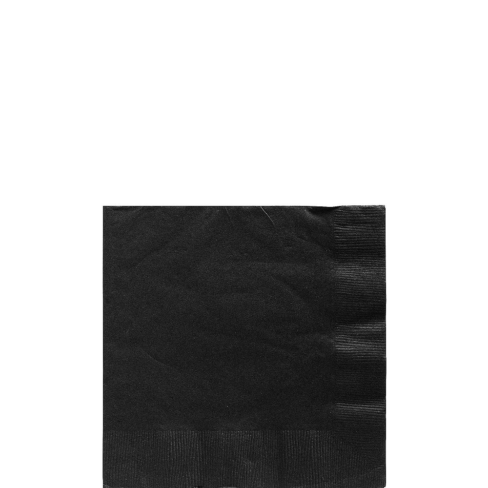 Black Plastic Tableware Kit for 20 Guests Image #4