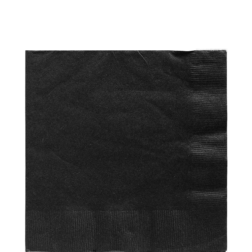 Black Plastic Tableware Kit for 20 Guests Image #5
