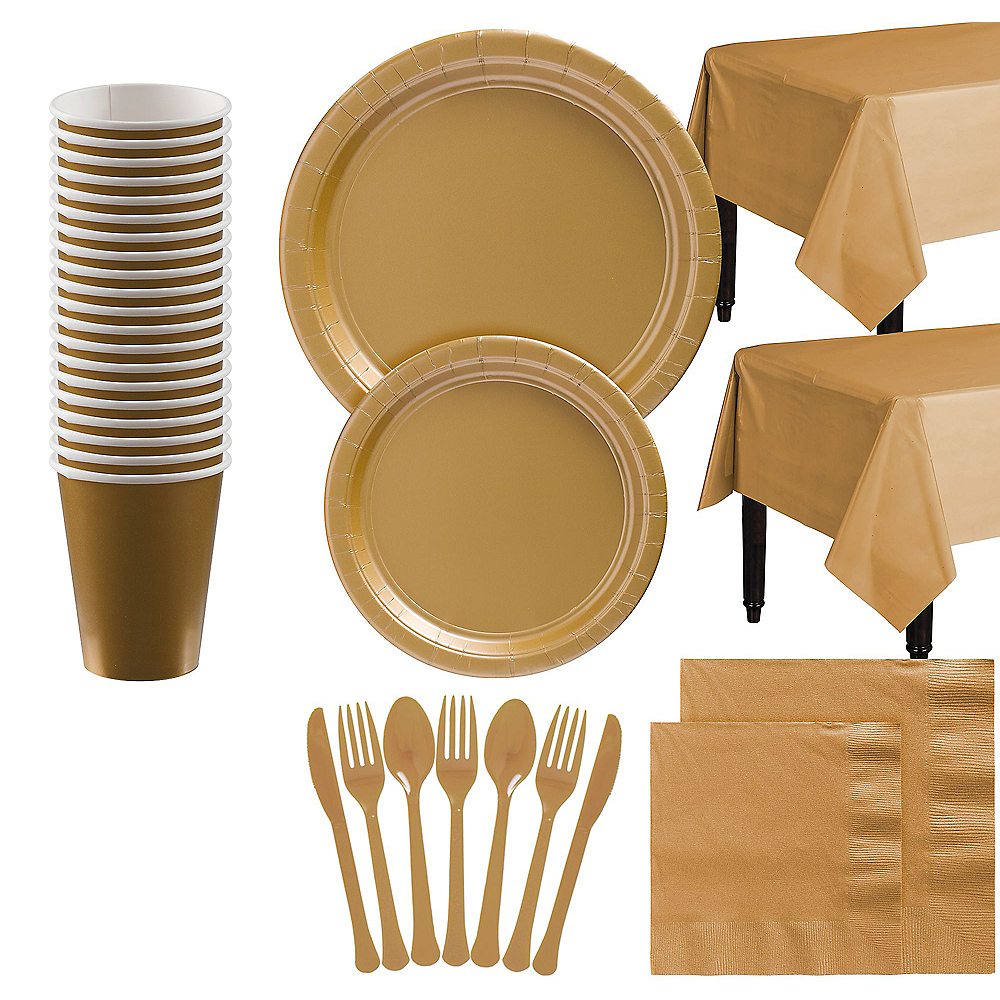 Gold Tableware Kit for 20 Guests Image #1
