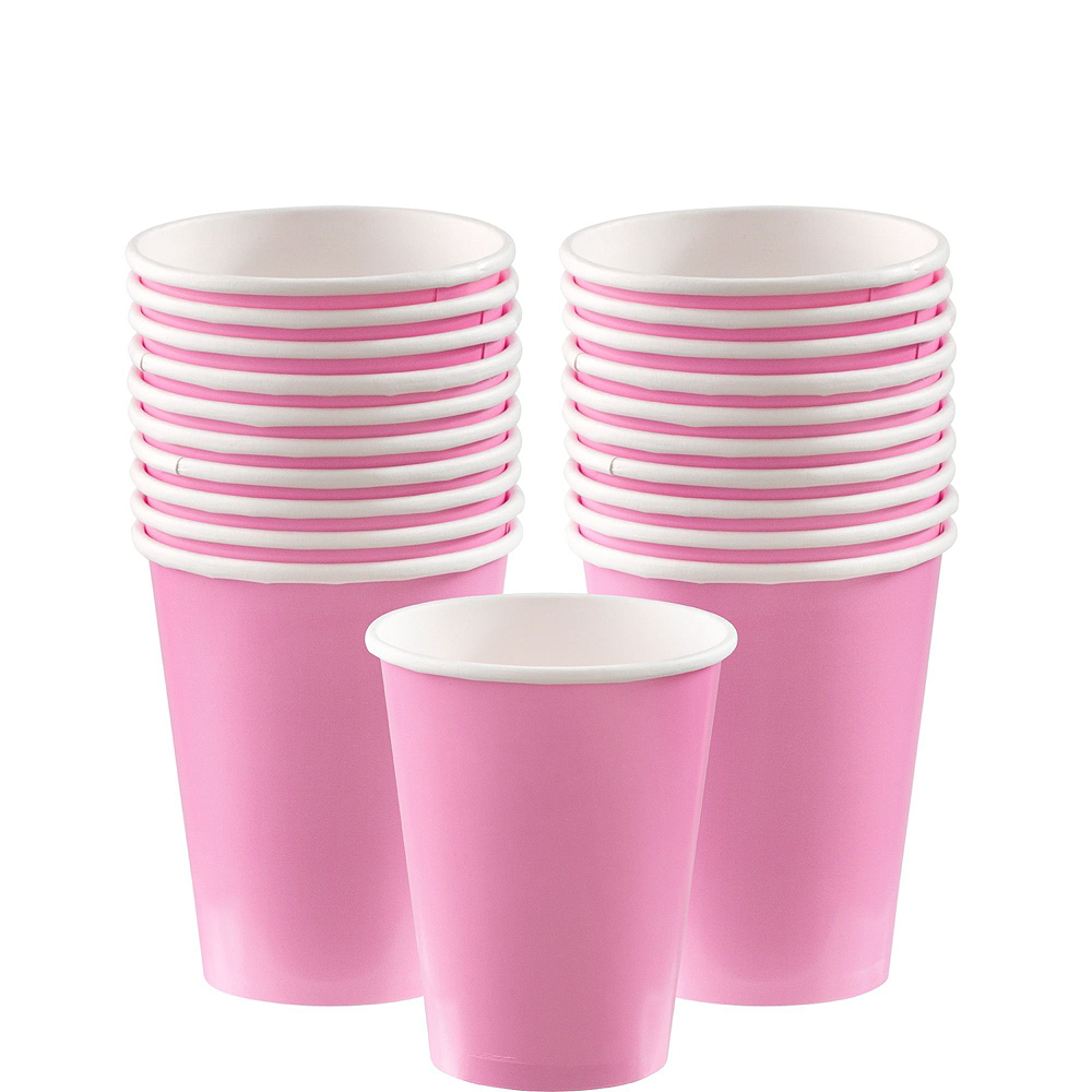 Pink Paper Tableware Kit for 20 Guests Image #6