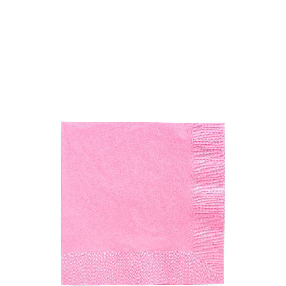 Pink Plastic Tableware Kit for 20 Guests Image #4